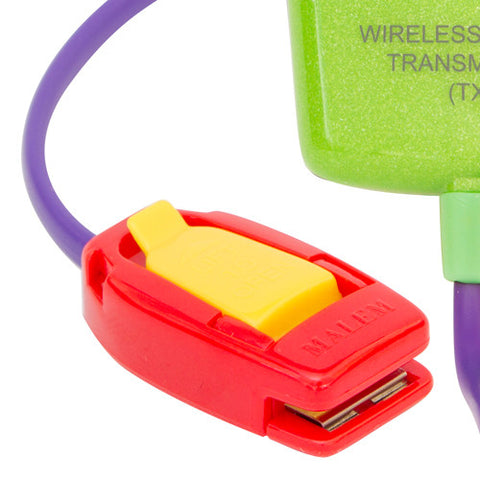 MO12 Green Malem Wireless Enuresis Bedwetting Alarm with clip closed
