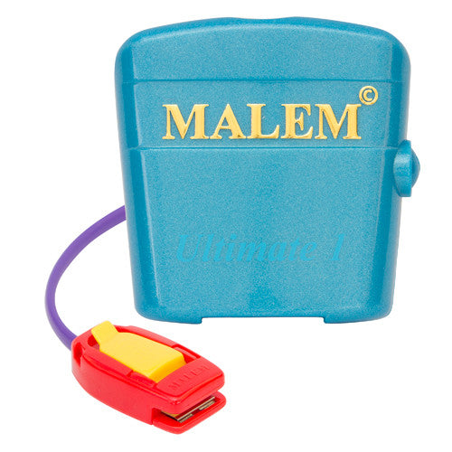 MO4 Blue Malem Wearable Enuresis Bedwetting Alarm front with clip