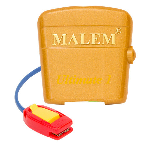 MO4 Dark Pink Malem Wearable Enuresis Bedwetting Alarm front with clip