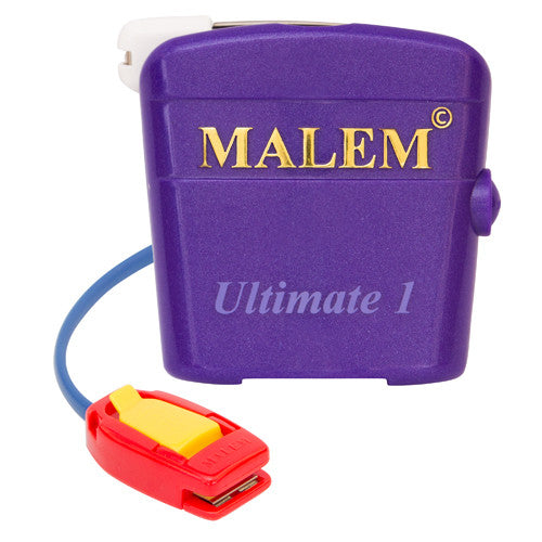 MO4 Purple Malem Wearable Enuresis Bedwetting Alarm front with clip