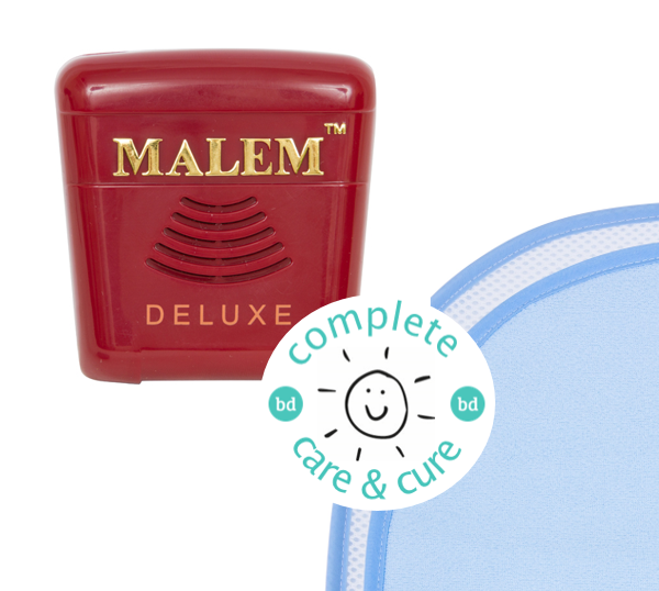 Complete Care & Cure Deluxe Bundle - Malem Deluxe Alarm + The Waterproof Bed Sheet