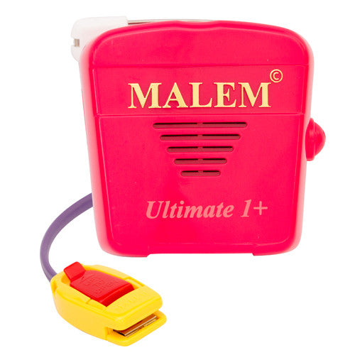 MO5 Pink Malem Wearable Enuresis Bedwetting Alarm front with clip