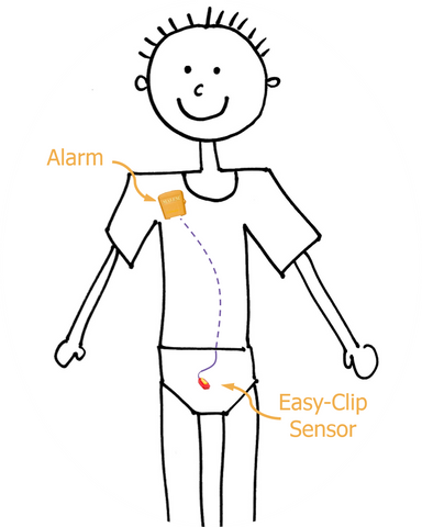MO4 Gold Malem Wearable Enuresis Bedwetting Alarm