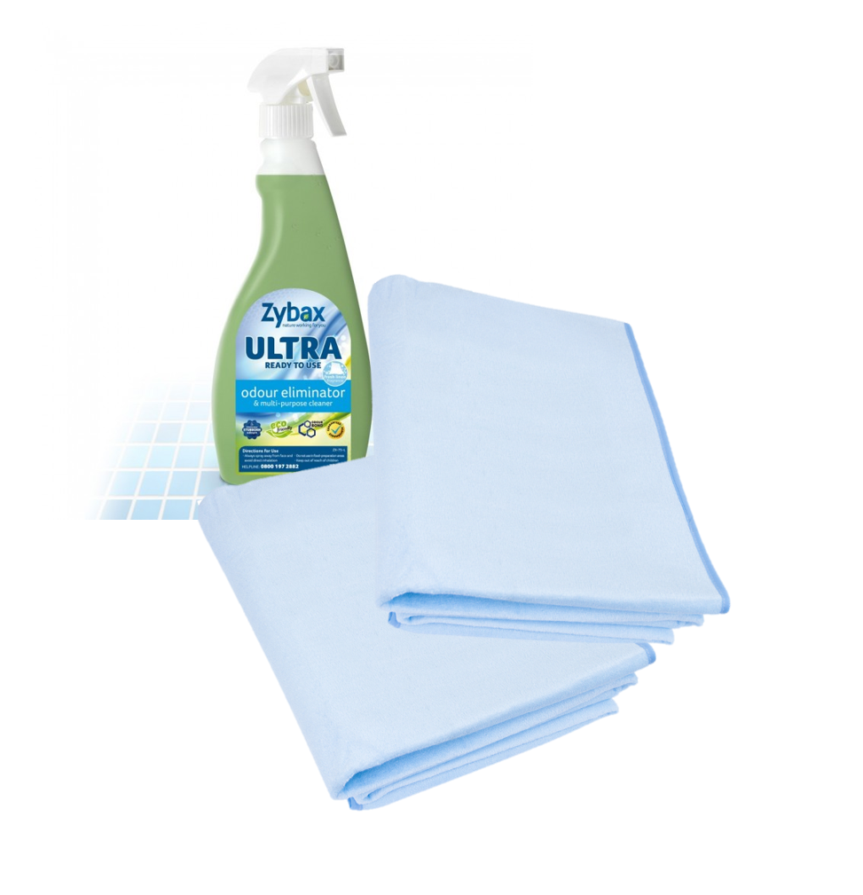 Clean & Care Bundle - 2 x The Waterproof Bed Sheet + Zybax Odour Eliminator