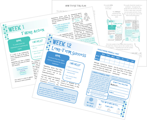 The Dry Nights Plan eBook - A 12 week programme to support you and your child on the way to dry nights - by The Bedwetting Doctor