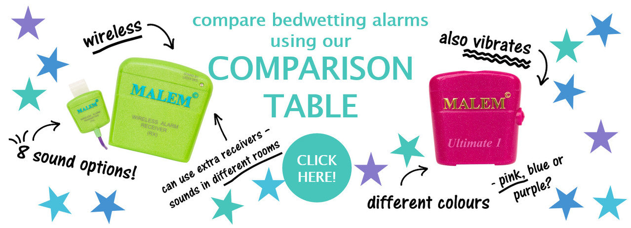 Bedwetting Alarm Comparison Table