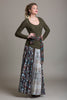 3D Laser Cut Pleated Maxi Skirt - Byron Lars Beauty Mark