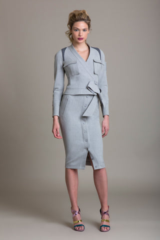 Tailored Stretch Modern Sculpted Jacket - Byron Lars Beauty Mark