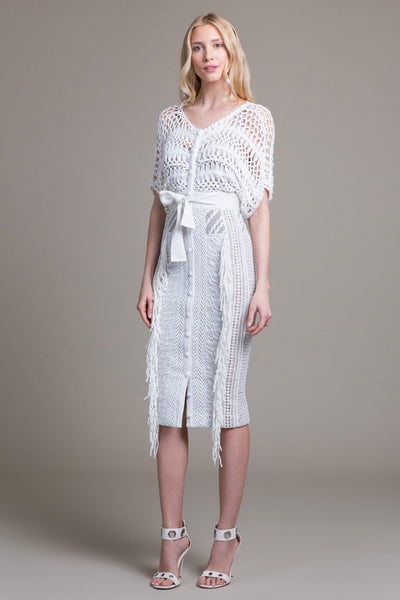Crocheted Kimono Dress - Byron Lars Beauty Mark