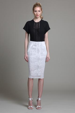 Mesh Illusion Skirt - Byron Lars Beauty Mark