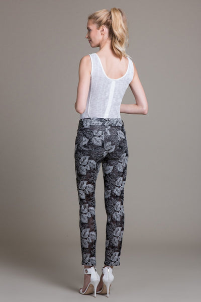 Sheer Mesh Embroidered Pant - Byron Lars Beauty Mark