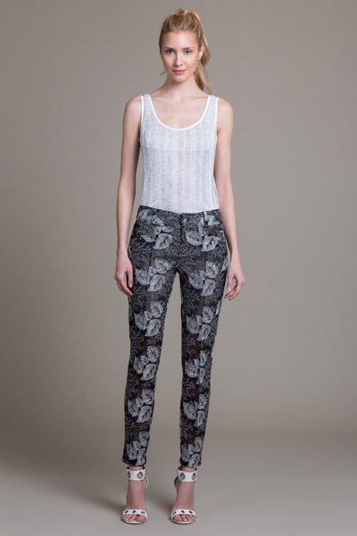 Sheer Mesh Embroidered Pant