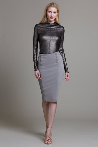Bungee Crinkle Tailored Skirt - Byron Lars Beauty Mark