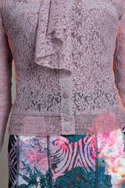 Cravat Lace Cardigan - Byron Lars Beauty Mark