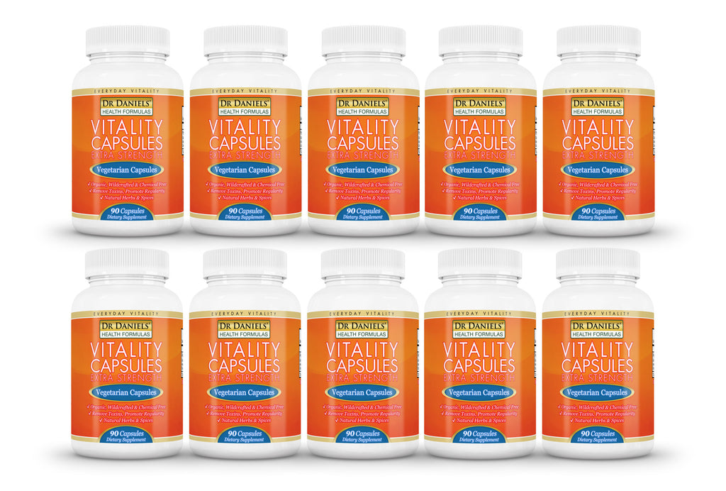 10 Bottles of Extra Strength Vitality Capsules