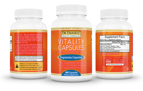 3 Bottles of Extra Strength Vitality Capsules