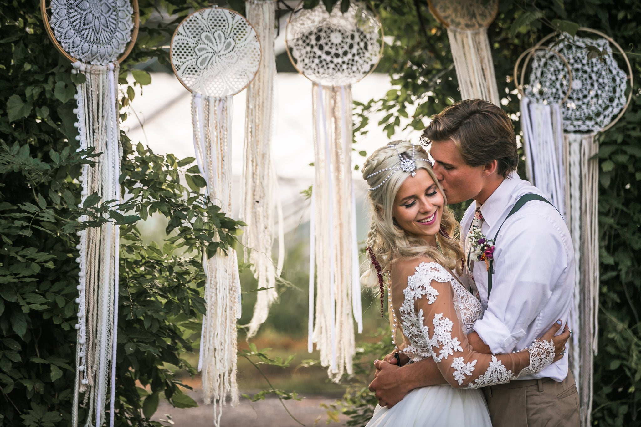 Dreamcatchers at a wedding