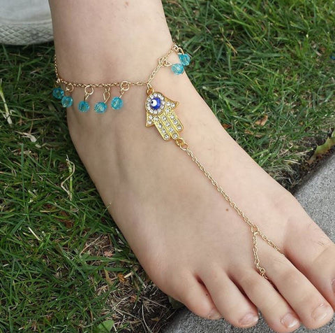 Gold Barefoot Sandals