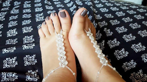 Barefoot Sandals on Karly N.