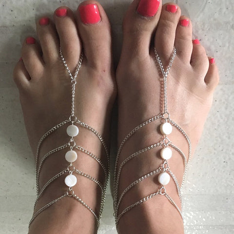 Chained Barefoot Sandals