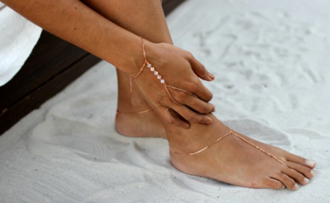 Hand Chain and Barefoot Sandals