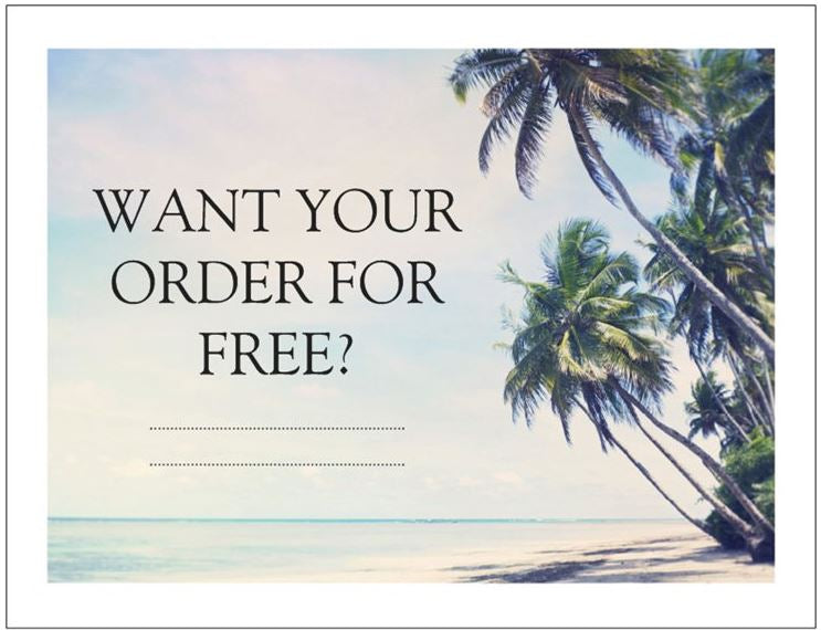 Free order of Barefoot Sandals