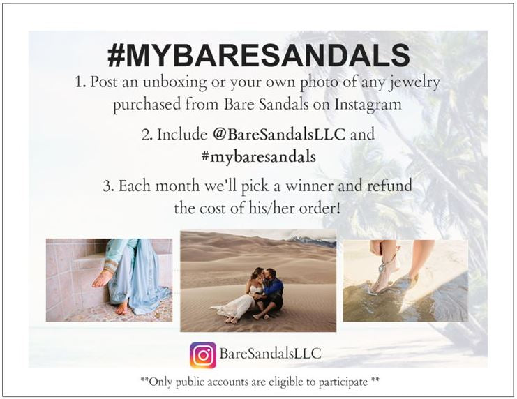 Free order from Bare Sandals
