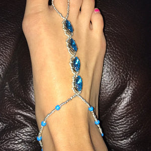 Danielle F wearing Fay Barefoot Sandals