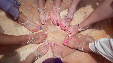Bridesmaids wearing Bare Sandals