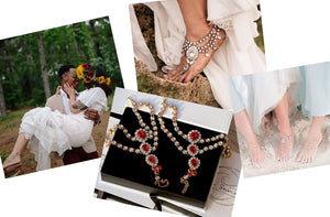 Brides wearing Barefoot sandals on their wedding day