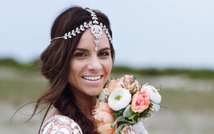 Silver head chain for bohemian wedding