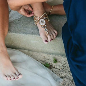 Bali Barefoot Sandals on a bride
