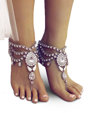 Bali Silver Barefoot Sandals