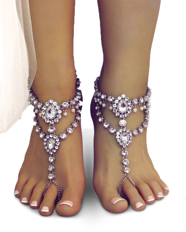 Marion Silver Barefoot Sandals