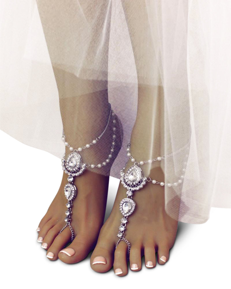 Scarlet Barefoot Sandals in Silver