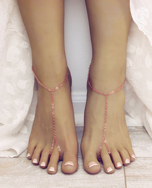 Mila Rose Gold Barefoot Sandals