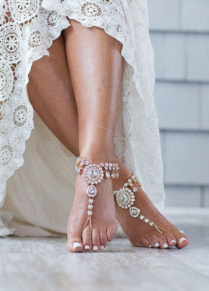 Starla Gold Barefoot Sandals