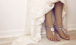 Aida Silver Barefoot Sandals