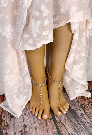 Aurora Rose Gold Barefoot Sandals