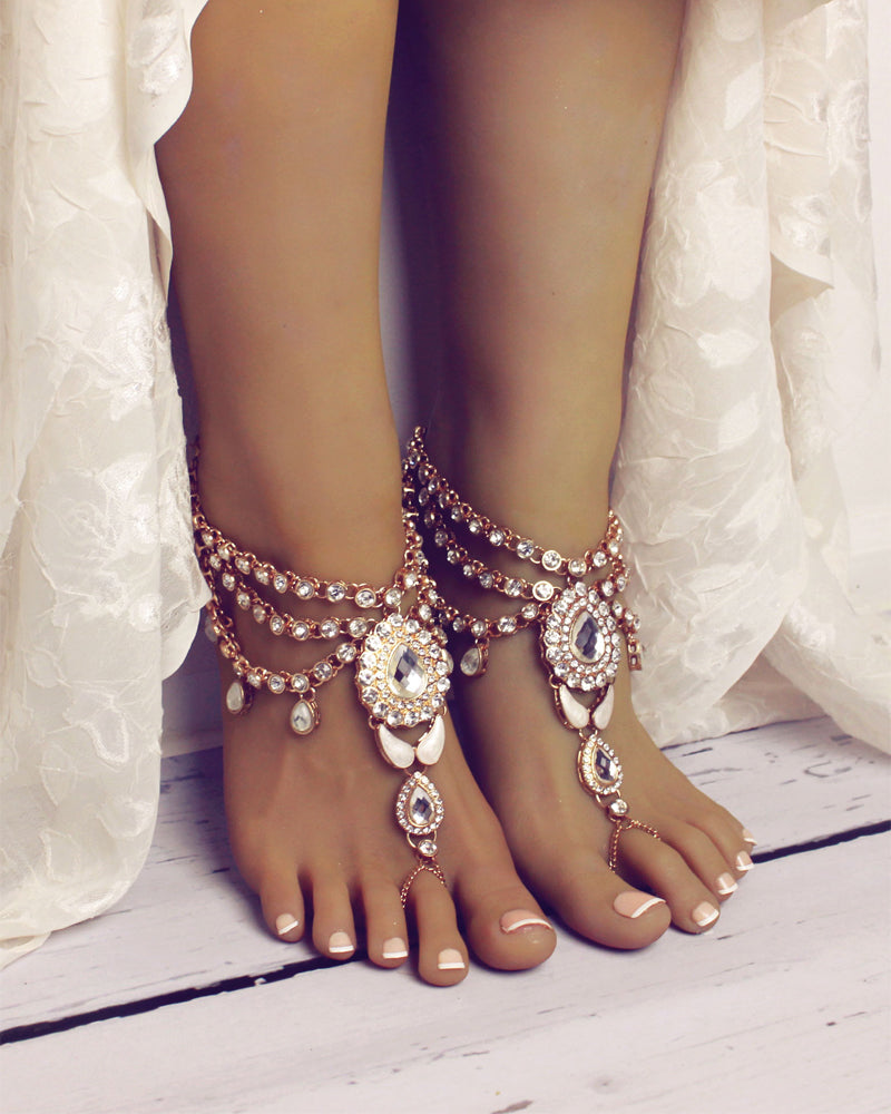 Bali Barefoot Sandals in Gold