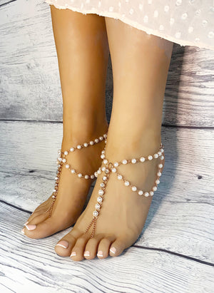 Constance Gold Barefoot Sandals