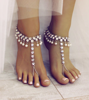 Diana Silver Barefoot Sandals