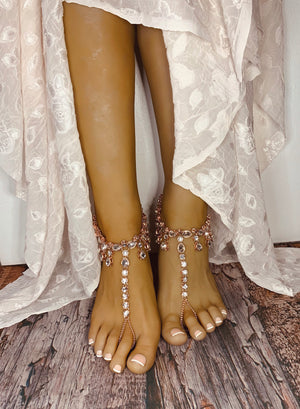 Faith Rose Gold Barefoot Sandals