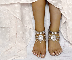 Cassidy Anklets in Silver