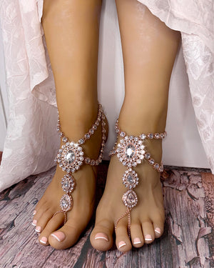 Katy Rose Gold Barefoot Sandals