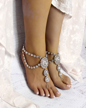 Katy Silver Barefoot Sandals