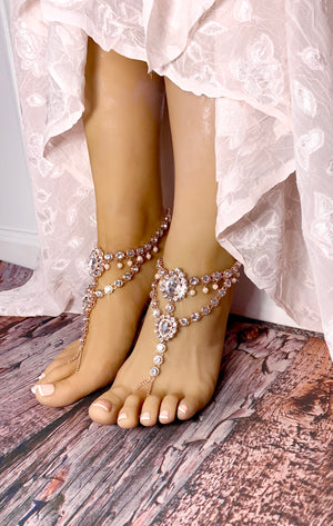 Marion Rose Gold Barefoot Sandals
