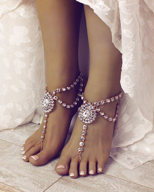 Serena Barefoot Sandals in Gold