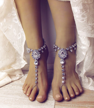 Sonia Silver Barefoot Sandals