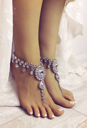 Starla Silver Barefoot Sandals